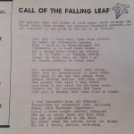 Call Of The Falling Leaf Poem