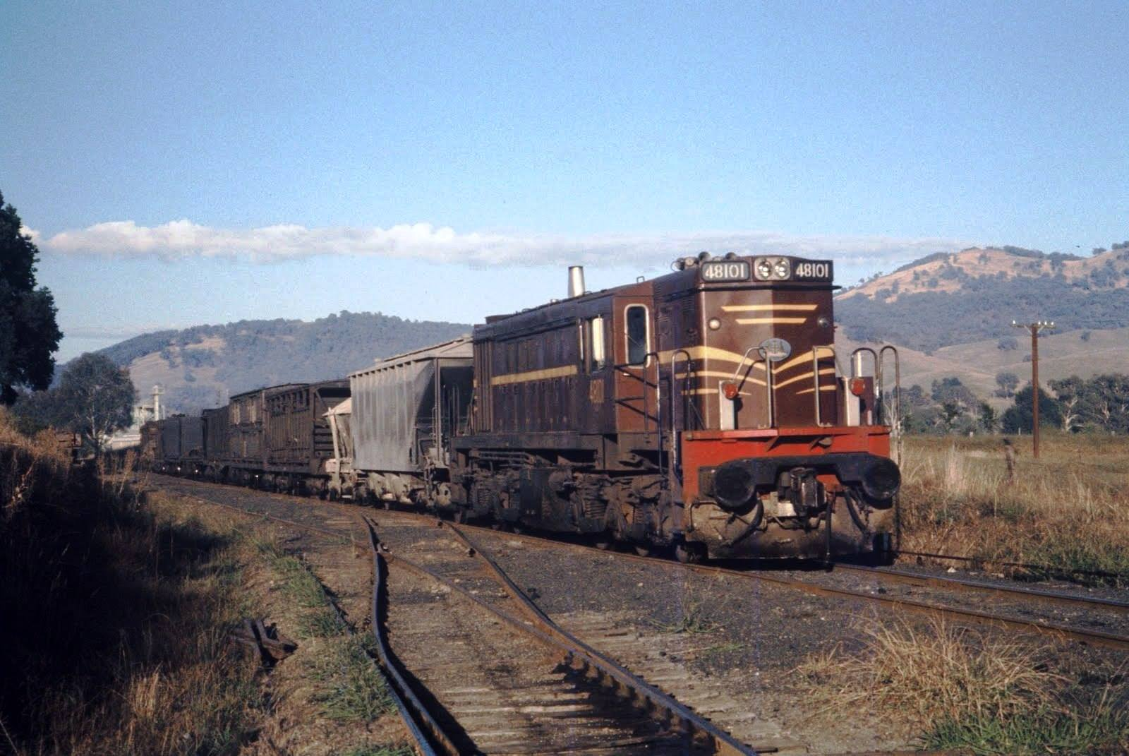 48 Class locomotive hauling freight