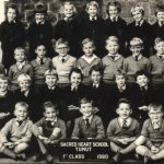 1st Class at the Sacred Heart School, 1960.