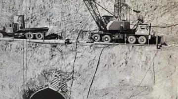 Blowering Dam construction 1965 – diversion tunnel.